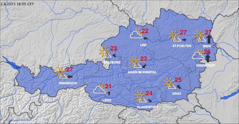 Aktuální počasí v Rakousku