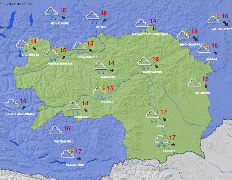 Aktuální počasí ve Štýrsku