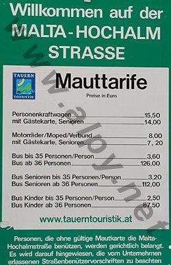 Malta Hochalm Strasse - ceny
