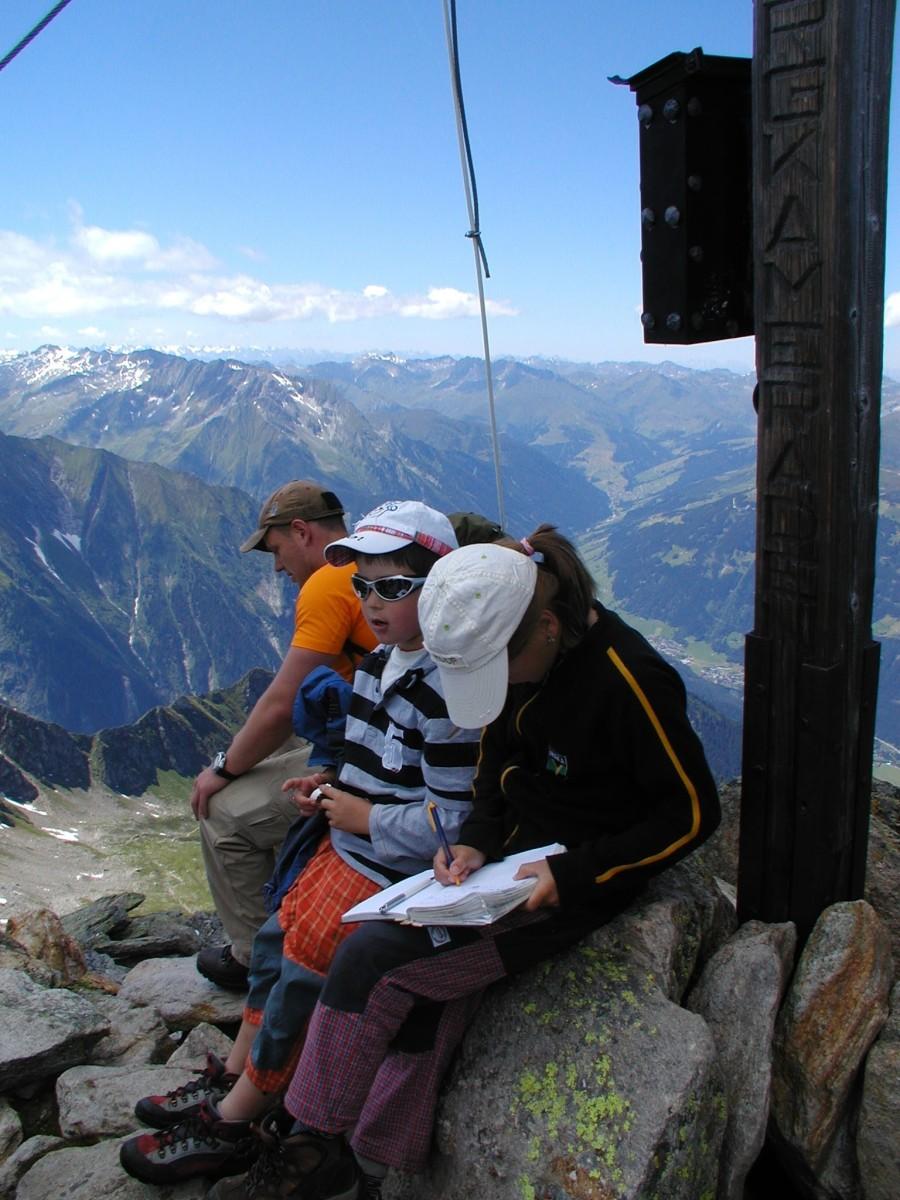 Ahornspitze - vrcholový kříž