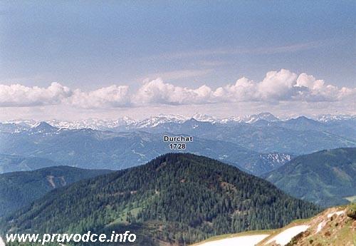 Pohled na jihozápad od Dachstein Südwandhütte
