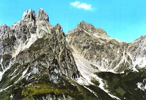Hofpurglhütte a Bischofsmütze