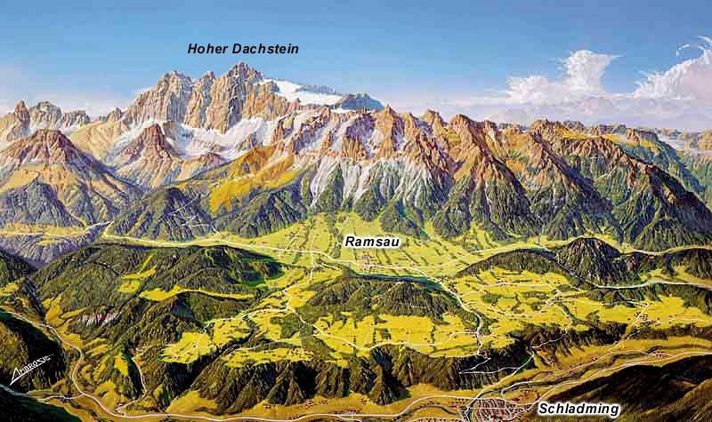 Panorama Dachsteinu od jihu