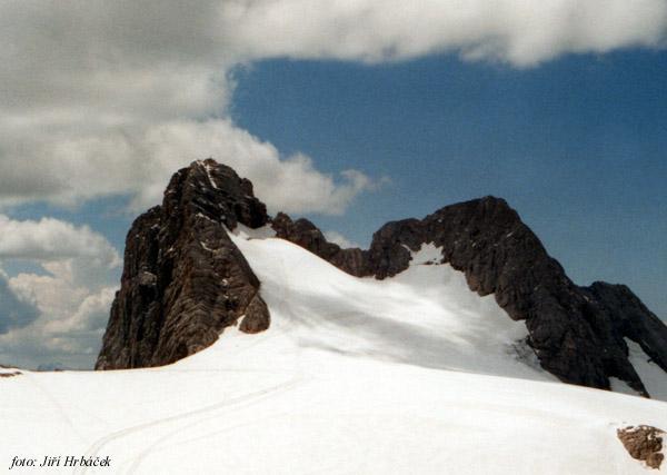 Hoher Dachstein, Niederer Dachstein a ledovec Hallstätter Gletscher
