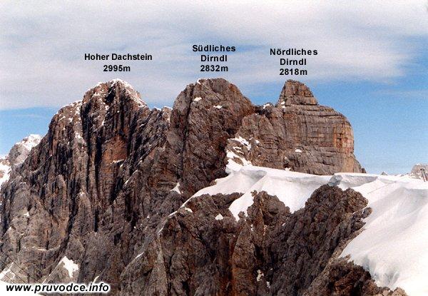 Nördliche Dirndl, Südliche Dirndl, Hallstätter Gletscher