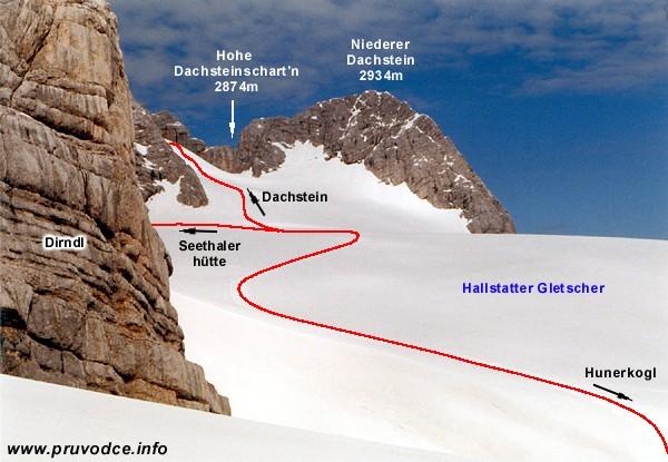 Niederer Dachstein a Hallstätter Gletscher