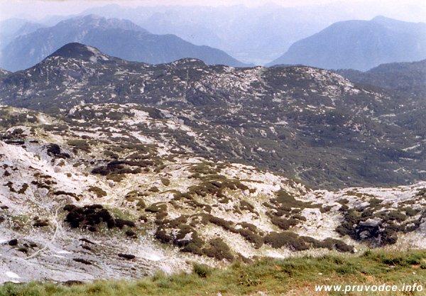 Pohled od Simonyhütte k severu