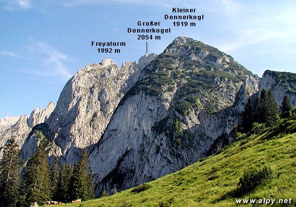 Grosser Donnerkogel, Kleiner Donnerkogel a Freyaturm