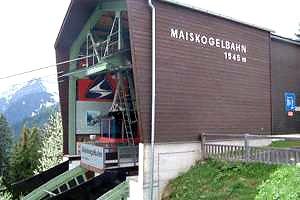 Maiskogelbahn - horní stanice lanovky