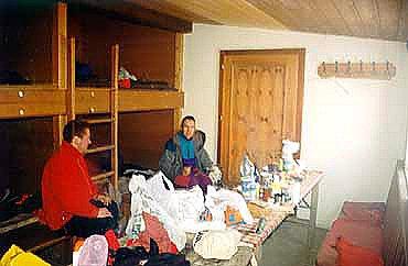 Winterraum v chatě Hofmannshütte