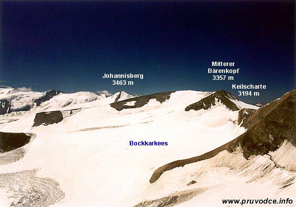 Johannisberg, Mittlerer Bärenkopf, Keilscharte, Bockkarkees