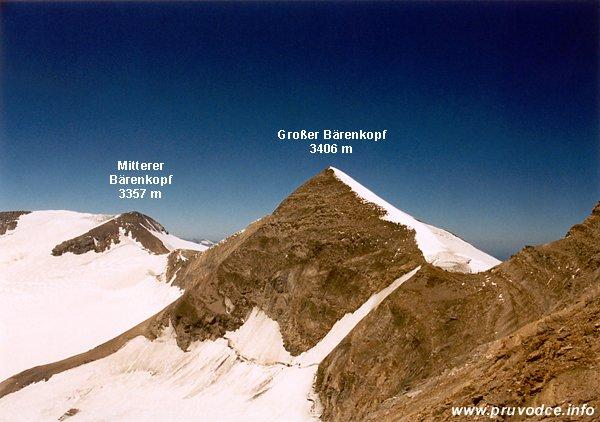 Mittlerer Bärenkopf, Keilscharte, Grosser Bärenkopf