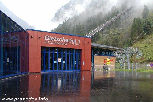 Gletscherjet 1 - spodní stanice lanovky, Kaprun Gletscherbahn
