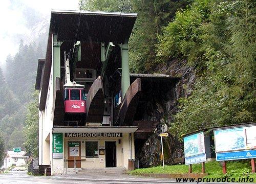 Maiskogelbahn Kaprun - spodní stanice lanovky