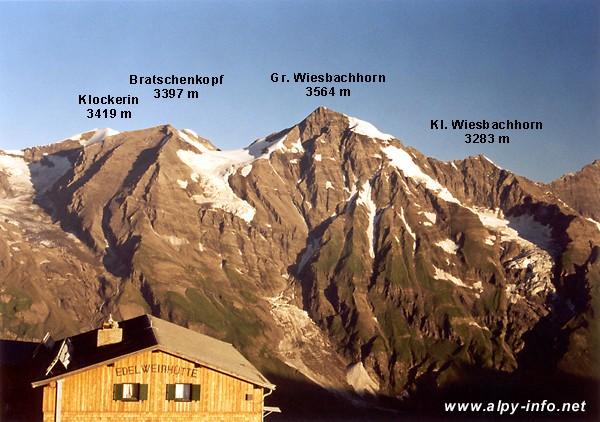 Klockerin, Bratschenkopf a Wiesbachhorn