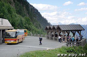 Tauernkraft Kaprun - Schragufzug Larchwand, nákladní výtah, horní stanice