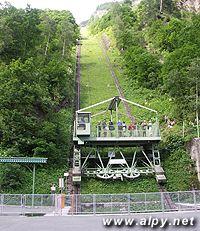 Tauernkraft Kaprun - Schragufzug Larchwand, nákladní výtah, spodní stanice