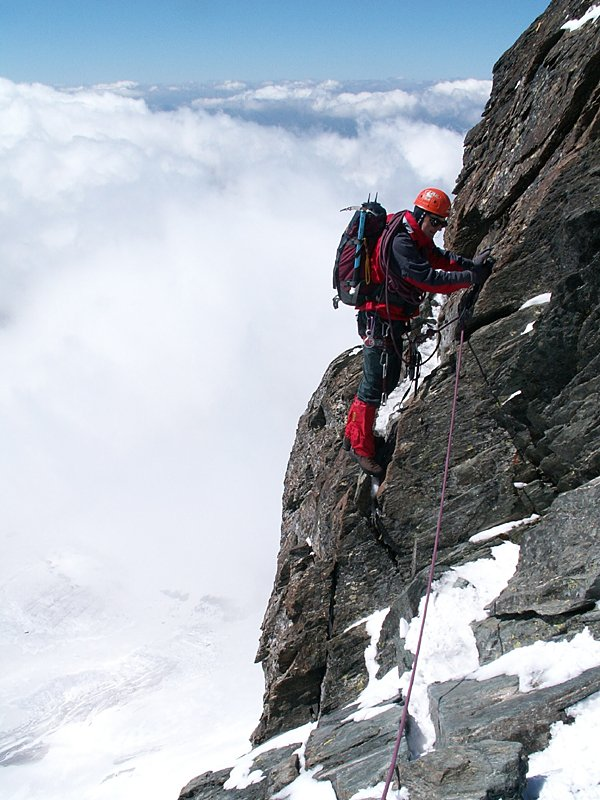 Stüdlgrat - vzdušné lezení