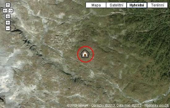 Poloha chaty Oberwalderhütte na mapě