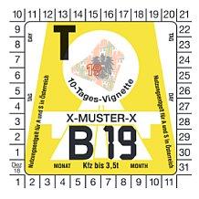Rakouská dálniční známka