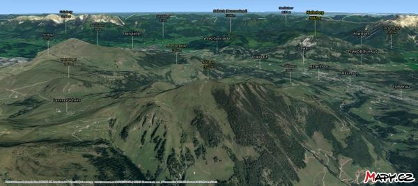 Interaktivní 3D pohled na Karstein a okolí na Mapy.cz