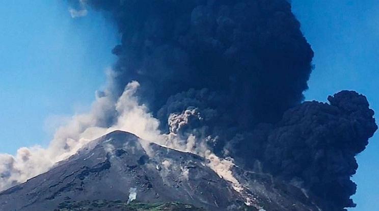 Erupce sopky Stromboli