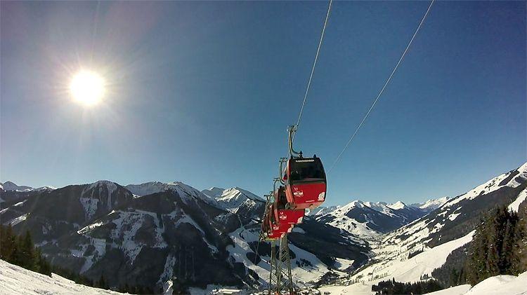Skiareál Saalbach Hinterglemm Leogang