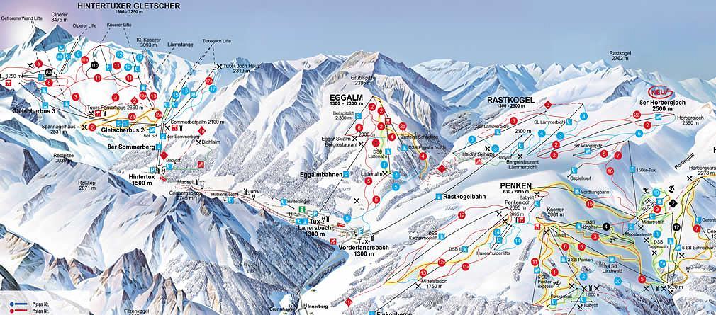 Ski Zillertal 3000 a Hintertuxer Gletscher