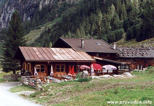 Enzian Hütte - původní dnes již neexistující chata