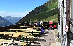 Neue Thüringer Hütte - terasa