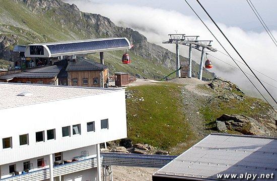 Alpincenter - Gletscherjet 2, horní stanice